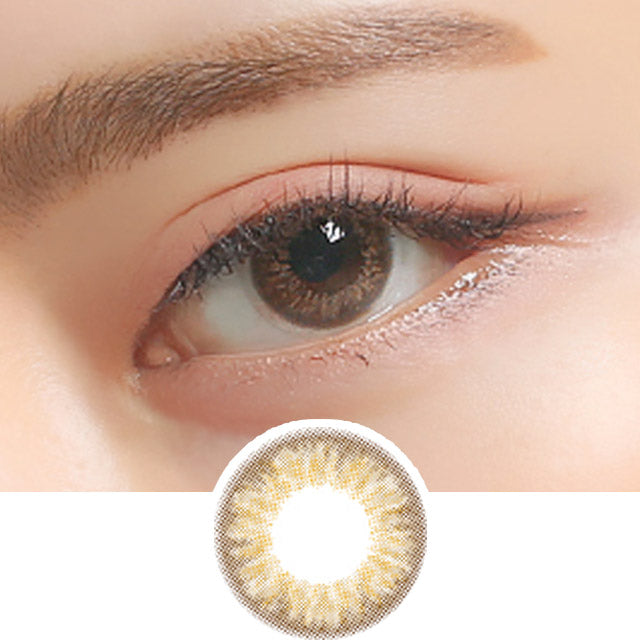Clalen Iris M Rachel Brown colored contacts circle lenses - EyeCandy's