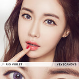 Load image into Gallery viewer, EyeCandys Pink Label Rio Grey Violet colored contacts circle lenses - EyeCandy's