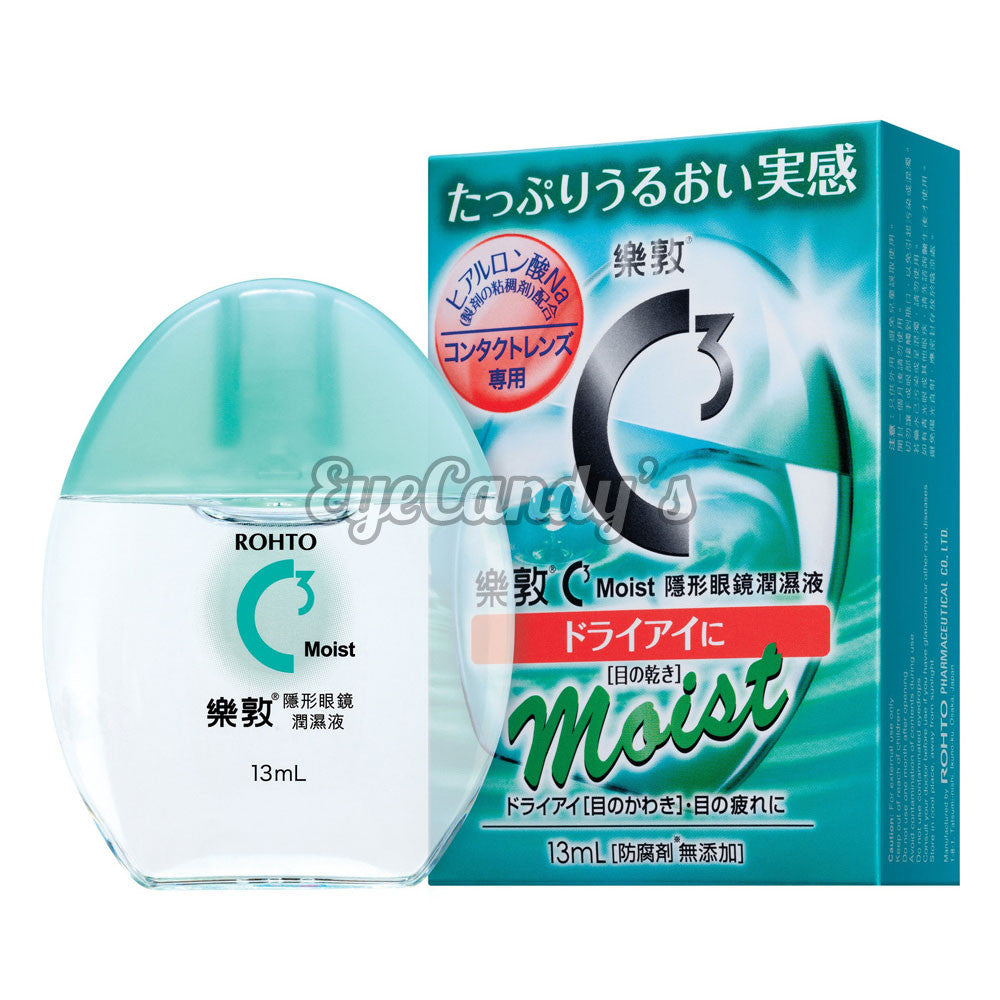 Rohto C3 Cool/Moist Plus Eye Drops for Contact Lens colored contacts circle lenses - EyeCandy's