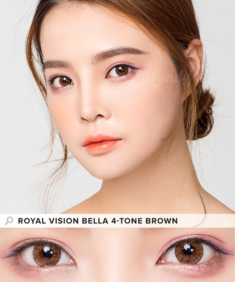 Buy Royal Vision Bella 4 Tone Brown Circle Lenses | EyeCandys