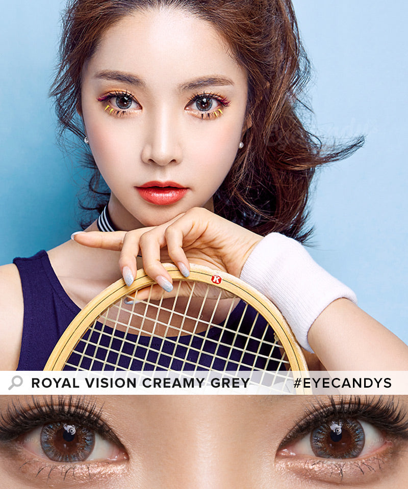EyeCandys Pink Label Multi-Tone Grey colored contacts circle lenses - EyeCandy's
