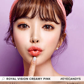 EyeCandys Pink Label Multi-Tone Pink colored contacts circle lenses - EyeCandy's