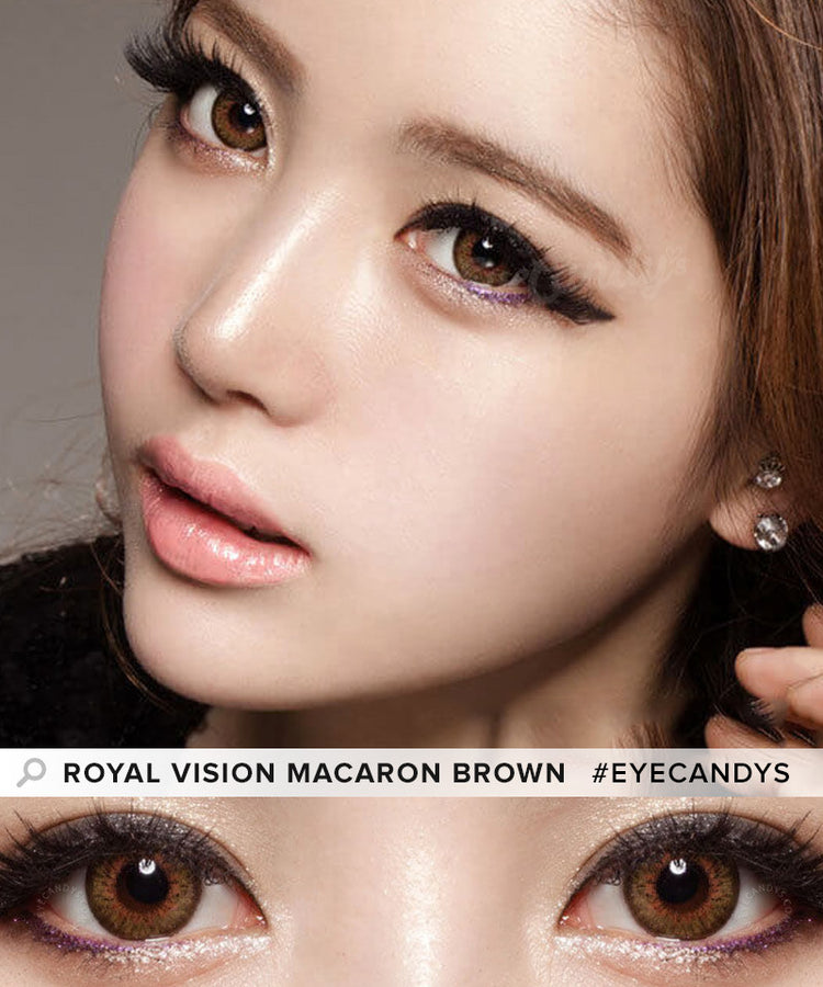 Buy Royal Vision Macaron Brown Colored Contacts | EyeCandys