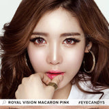 Royal Vision Macaron Pink colored contacts circle lenses - EyeCandy's