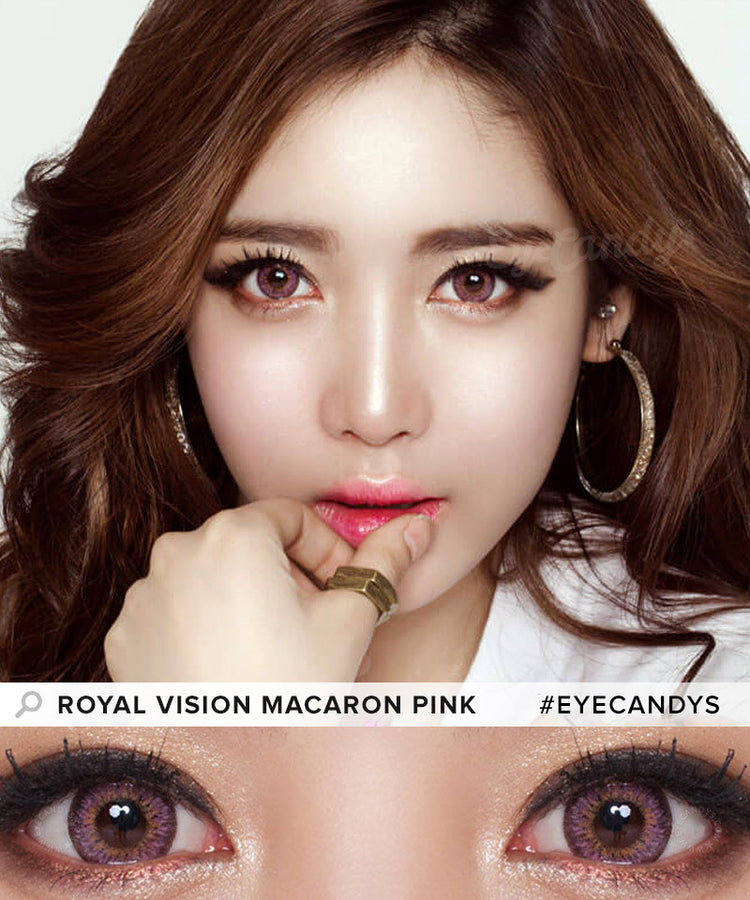 Buy Royal Vision Macaron Pink Colored Contacts | EyeCandys