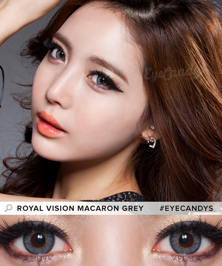 Buy Royal Vision Macaron Grey Colored Contacts | EyeCandys