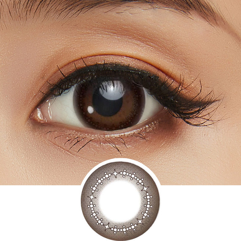 Seed Heroine Brown (10pk) colored contact lenses - EyeCandys