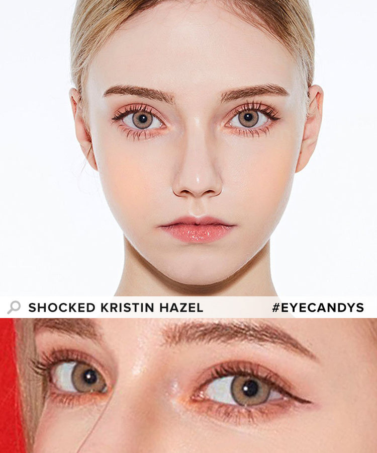 Buy Hapa Kristin Shocked Kristin Hazel Coloured Contact Lens | EyeCandys