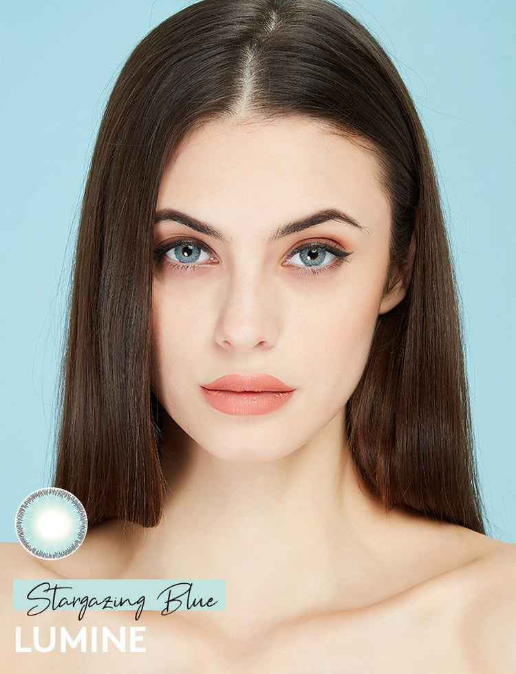 Buy Stargazing Blue Color Contact Lenses | LUMINE Lens