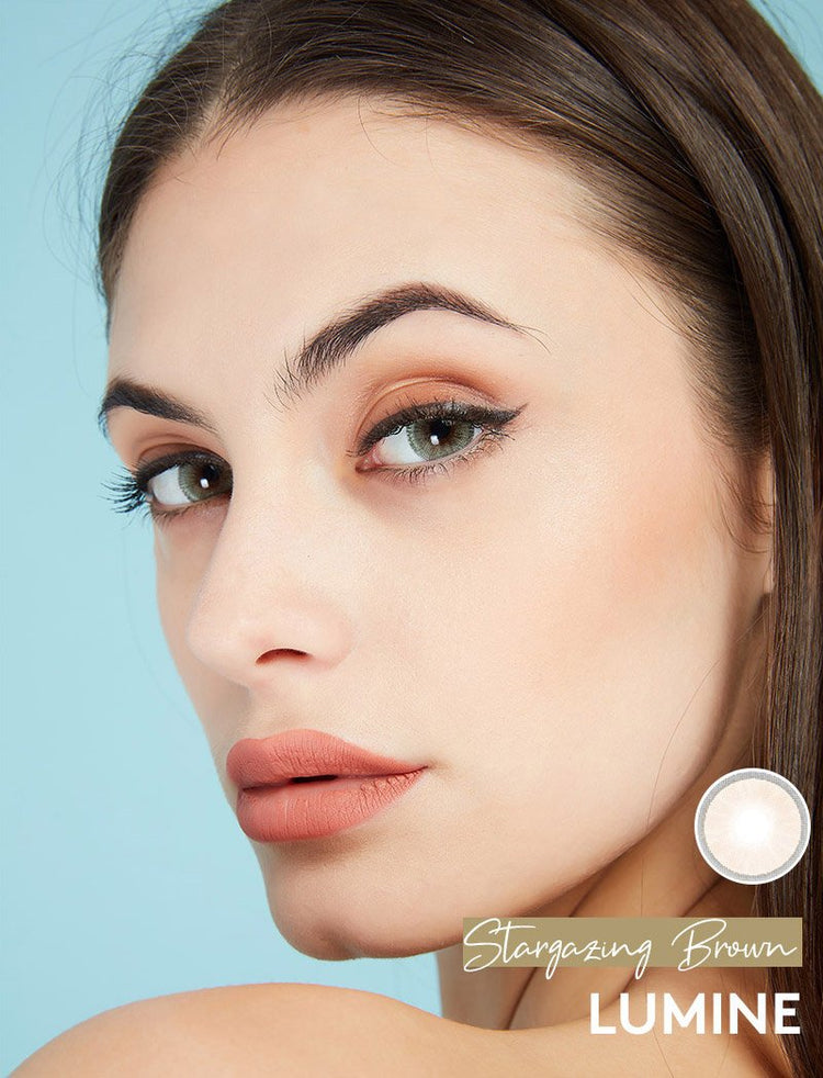 Buy Stargazing Beige Color Contact Lenses | LUMINE Lens