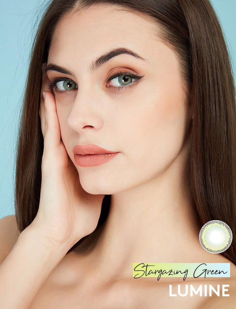 Buy Stargazing Green Color Contact Lenses | LUMINE Lens