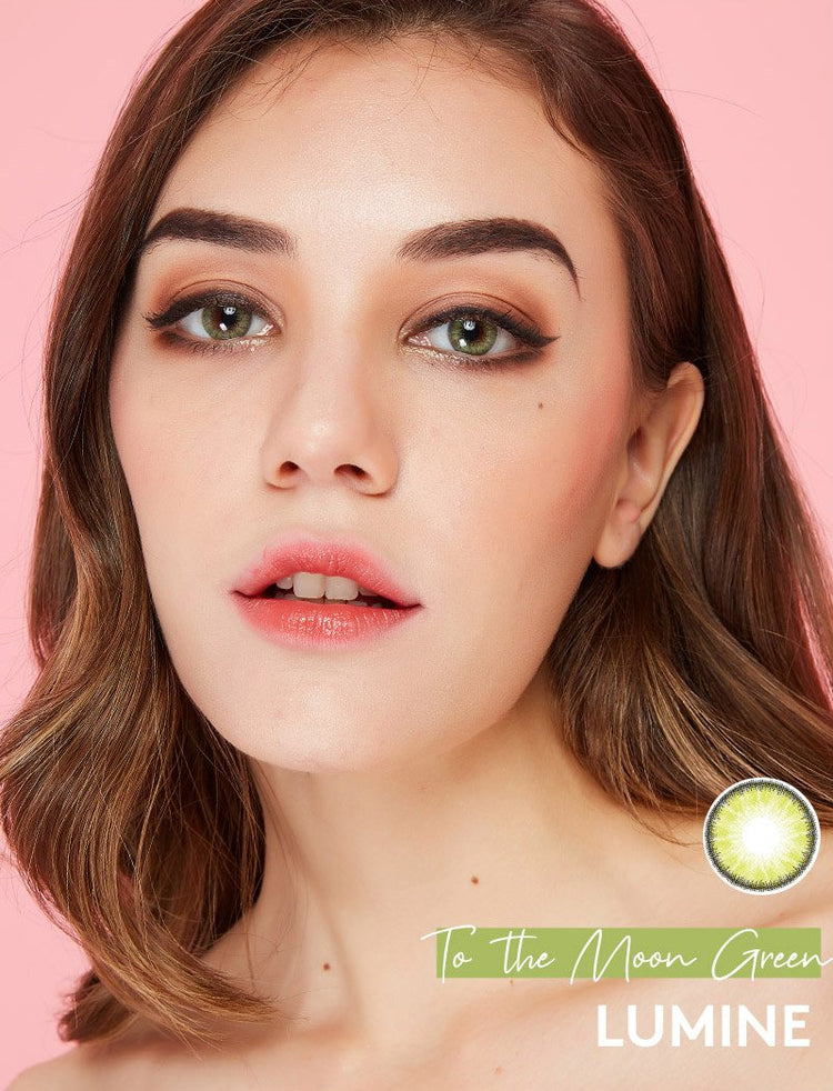 Buy to the moon Green Color Contact Lenses | LUMINE Lens