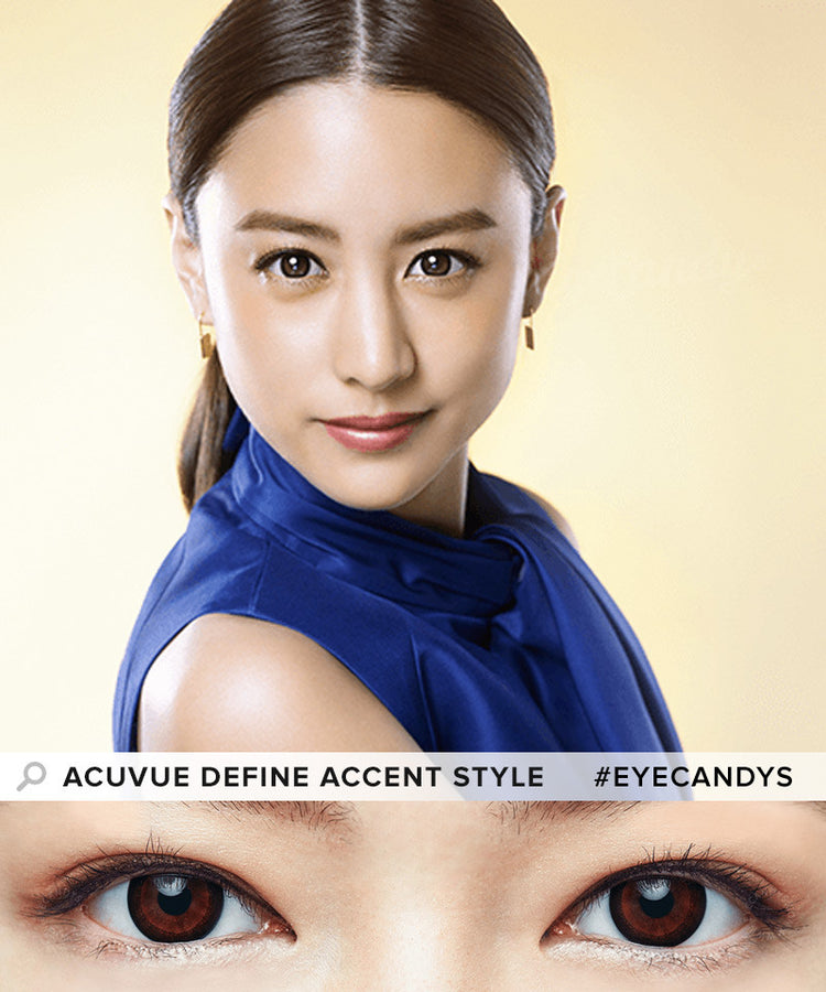 Buy Acuvue Define Accent Style Black Circle Lenses | EyeCandys
