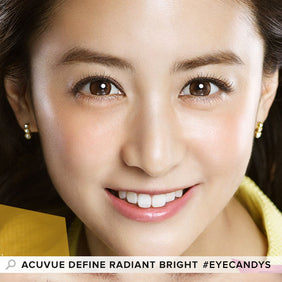 Acuvue Define Radiant Bright Brown (30 Pcs) colored contact lenses - EyeCandys