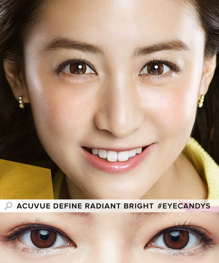 Buy Acuvue Define Radiant Bright Brown Circle Lenses | EyeCandys