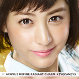Acuvue Define Radiant Charm Brown (30 Pcs) colored contacts circle lenses - EyeCandy's