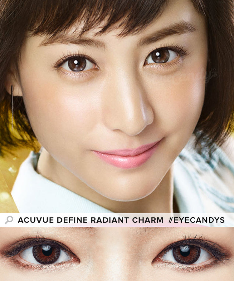 Buy Acuvue Define Radiant Charm Brown Circle Lenses | EyeCandys