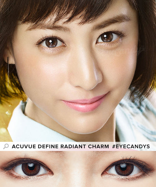 Buy Acuvue Define Radiant Charm Brown Circle Lenses