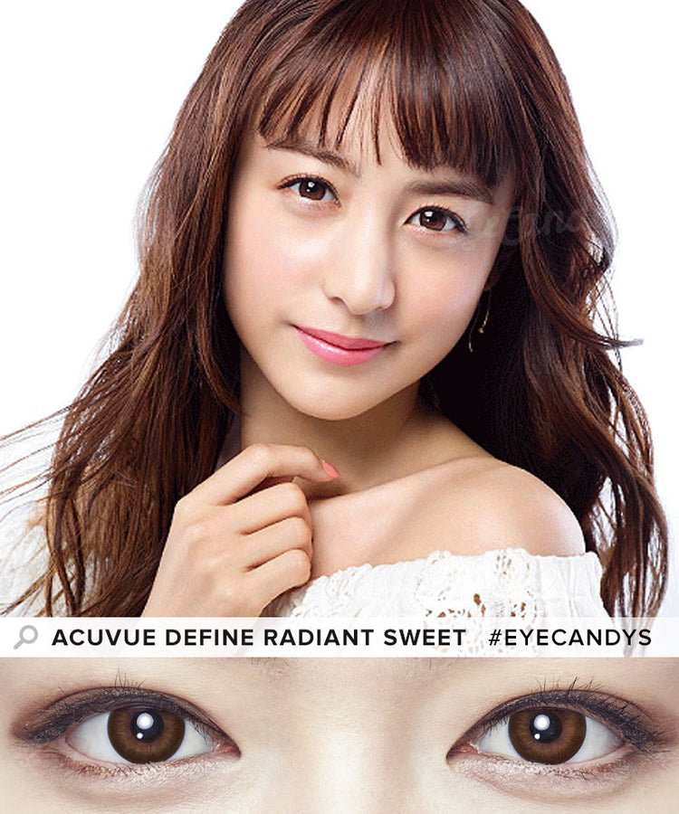 Buy Acuvue Define Radiant Sweet Circle Lenses | EyeCandys