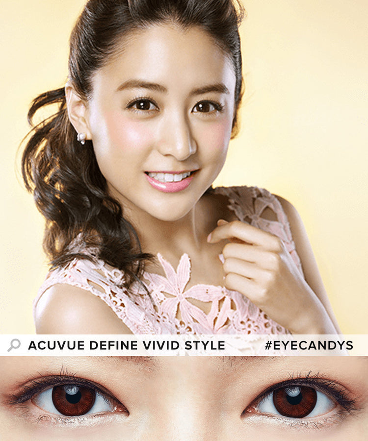 Buy Acuvue Define Vivid Choco Circle Lenses | EyeCandys