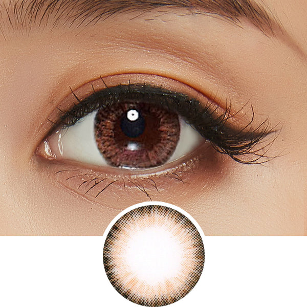 EyeCandys Pink Label Aida Brown colored contacts circle lenses - EyeCandy's
