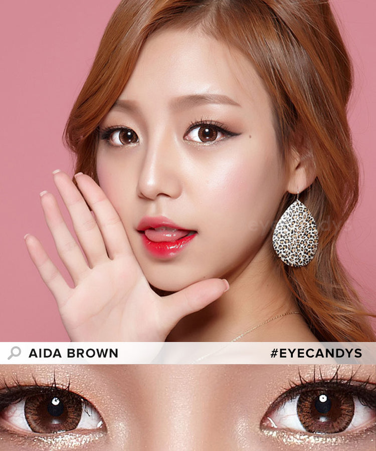 Buy EyeCandys Aida Brown Colour Contact Lenses | EyeCandys