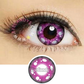 GEO Animation CP-A3 Purple colored contacts circle lenses - EyeCandy's