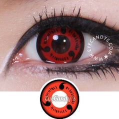 GEO Animation CP-S1 Red colored contacts circle lenses - EyeCandy's