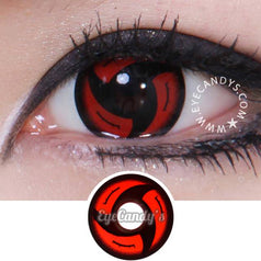 GEO Animation CP-S4 Red colored contacts circle lenses - EyeCandy's