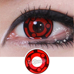 GEO Animation CP-S9 Red colored contacts circle lenses - EyeCandy's