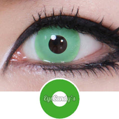 GEO Animation Neon Green colored contacts circle lenses - EyeCandy's