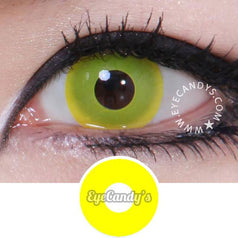 GEO Animation Neon Yellow colored contacts circle lenses - EyeCandy's