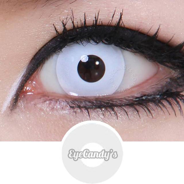 Non Prescription Colored Contacts >> Buy GEO Animation Pearl White Halloween Contact Lenses | EyeCandys