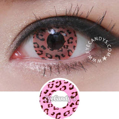 GEO Animation Pink Leopard colored contacts circle lenses - EyeCandy's