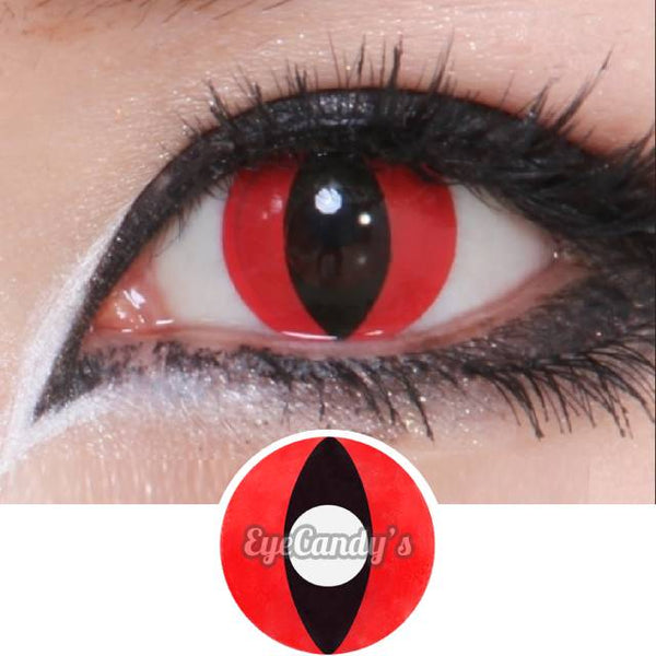 Buy Geo Animation Red Cat Eye Halloween Contact Lenses