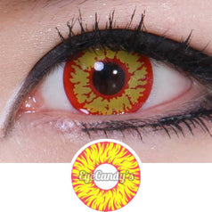 GEO Animation Red Yellow Fireball colored contacts circle lenses - EyeCandy's