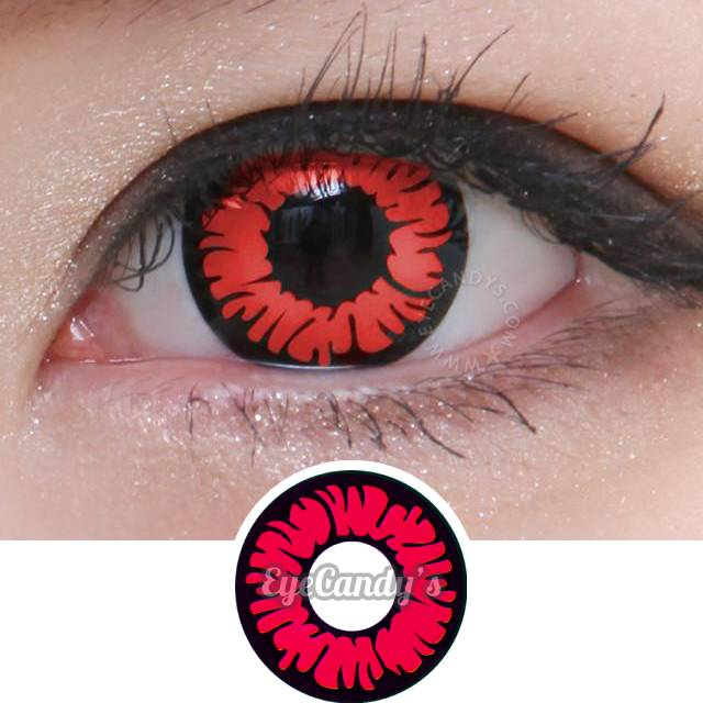 GEO Animation SF-20 Red colored contact lenses - EyeCandys