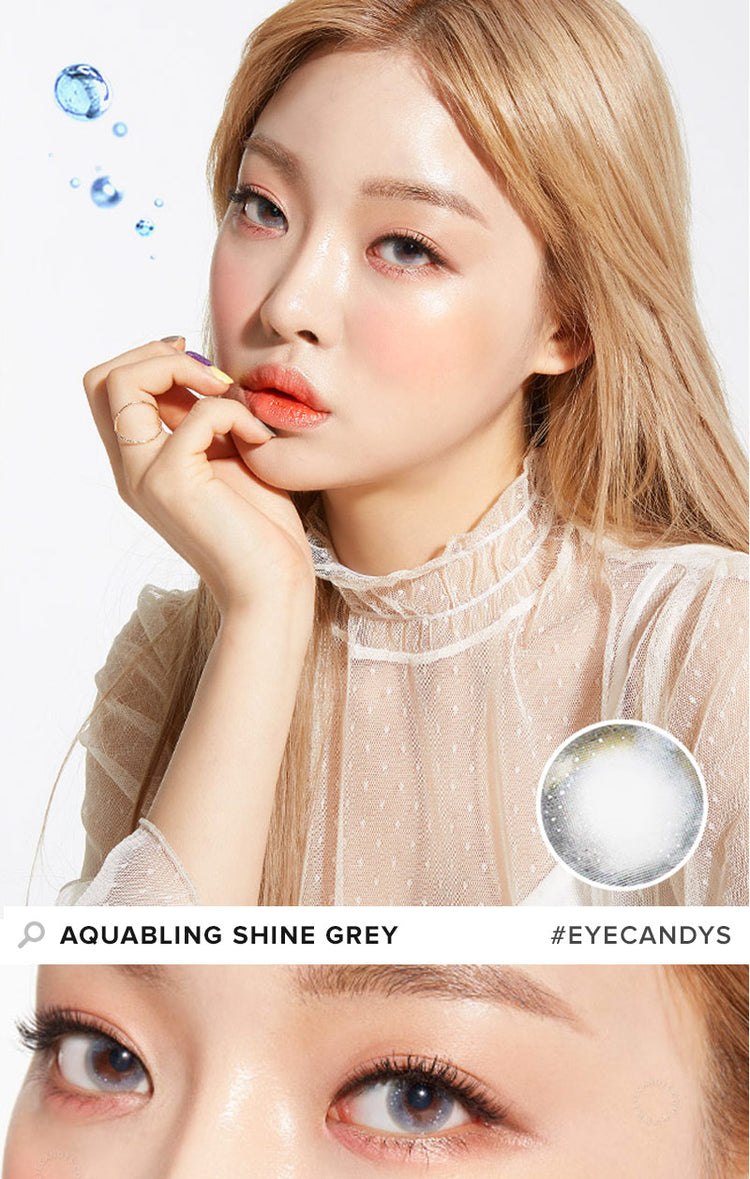 Buy Lenstown Aquabling Grey Colour Contact Lenses | EyeCandys