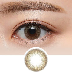Clalen Astra Estelle Brown colored contacts circle lenses - EyeCandy's