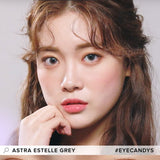 Clalen Astra Estelle Grey colored contacts circle lenses - EyeCandy's
