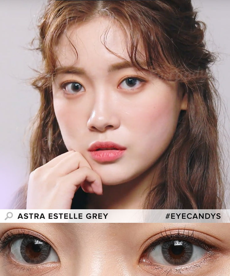Buy Clalen Astra Estelle Grey Color Contact Lenses | EyeCandys