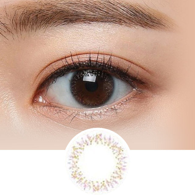 Clalen Astra Glitter (Clear) colored contacts circle lenses - EyeCandy's