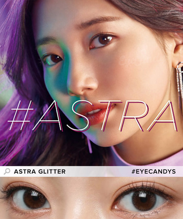 Buy Clalen Astra Glitter (Clear) Color Contact Lenses | EyeCandys