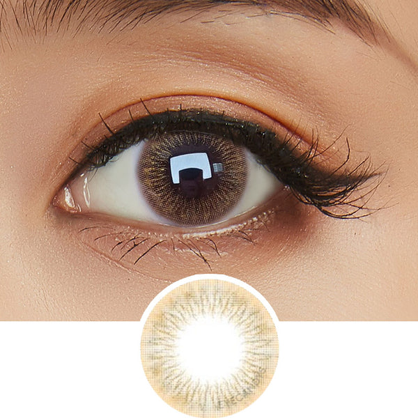 EyeCandys Pink Label Attitude Brown colored contacts circle lenses - EyeCandy's