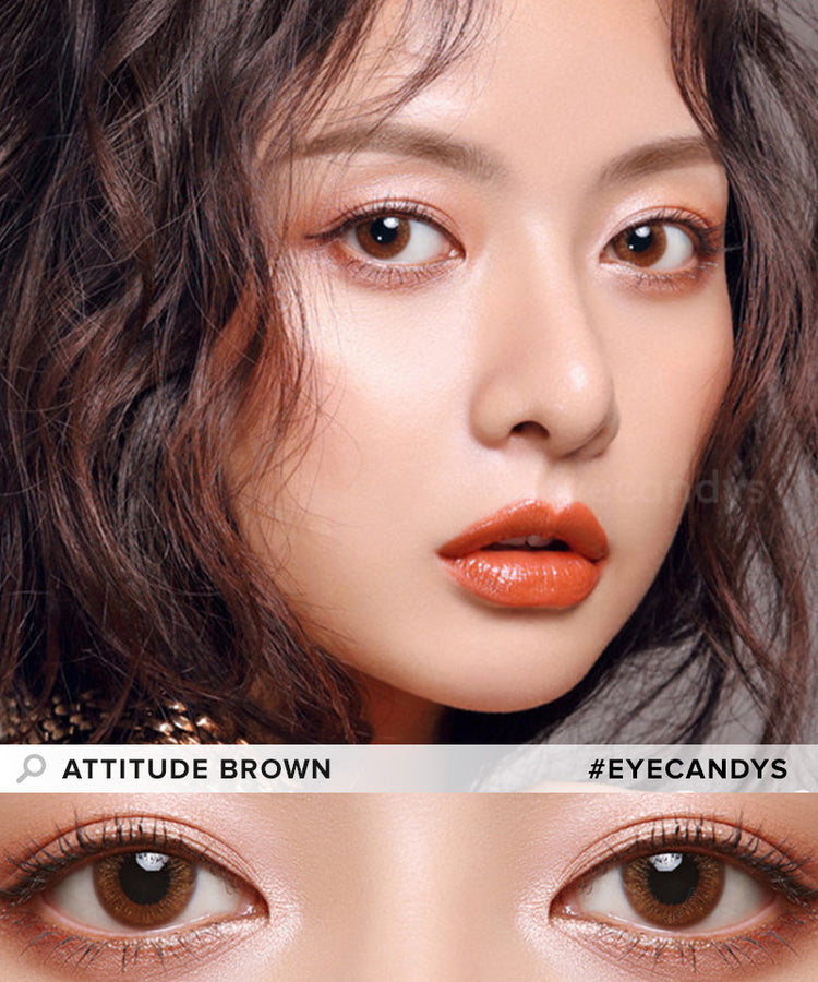 Buy EyeCandys Attitude Brown Color Contacts | EyeCandys