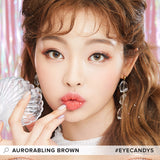 Lenstown Aurorabling Brown colored contacts circle lenses - EyeCandy's
