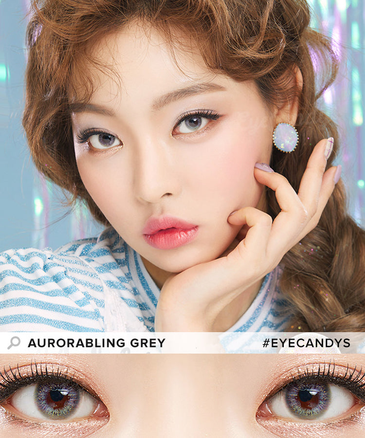Buy Lenstown Aurorabling Grey Colour Contact Lenses | EyeCandys