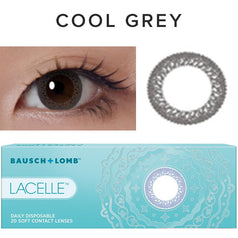 Bausch & Lomb Lacelle Cool Gray (30 Pcs) colored contacts circle lenses - EyeCandy's