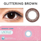 Bausch & Lomb Lacelle Dazzle Ring Glittering Brown colored contacts circle lenses - EyeCandy's