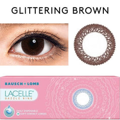 Bausch & Lomb Lacelle Dazzle Ring Glittering Brown